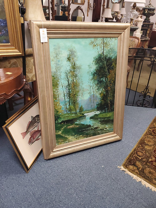 Landscape Oil On Canvas Paterno