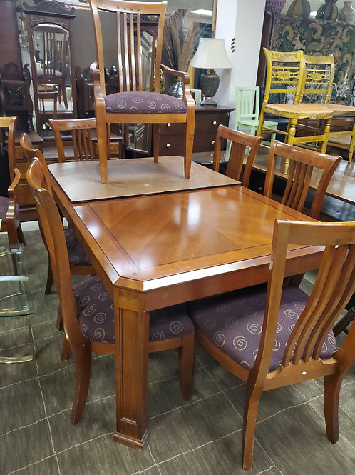 Thomasville Dining Room Table 8 Chairs 2 Leaves
