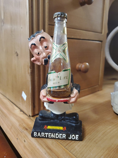 Bartender Joe High Life Beer Advertisement