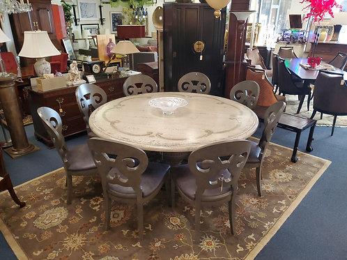 Arhaus Roma Bell Arte Dining Room Table & Jordan Bell Arte Chairs 8