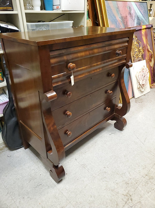Empire Mahogany English Chest and Drawers