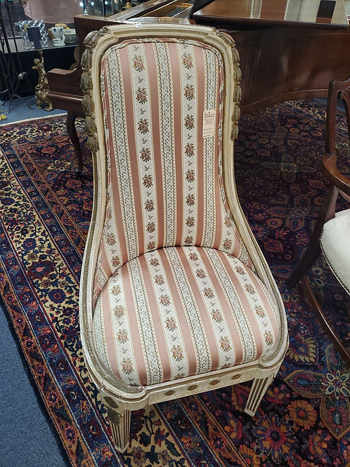 Pair of Louis XVI Style Slipper Chairs