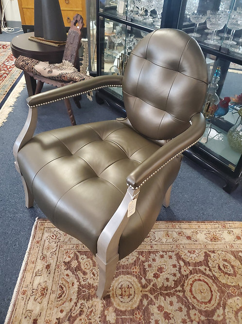 Pair of Donghia Leather Armchairs
