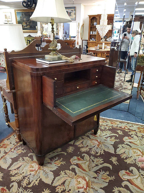 Empire Mahogany Gentlemens Desk With Leather Writing Surface