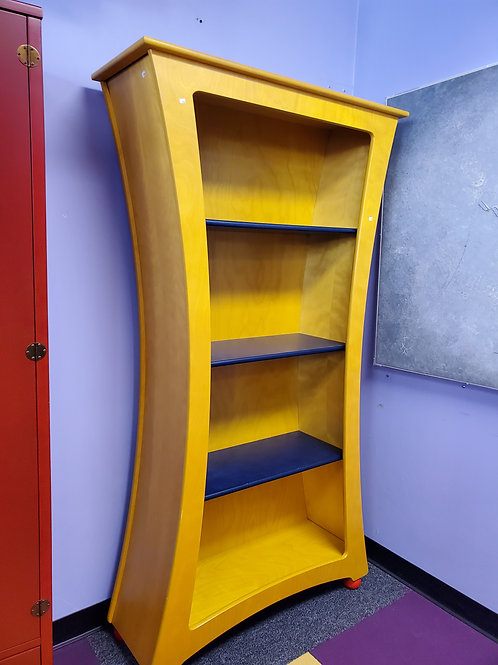 Curvy Bookshelf 3 Shelves H: 74.5' W: 42' D: 14.5'