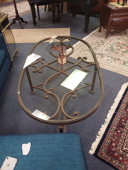 Wrought Iron Glasstop Coffee Table