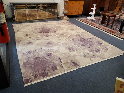 Adella Wool Rug Ivory/Purple Made In India 🇮🇳 7.11x 10Ft