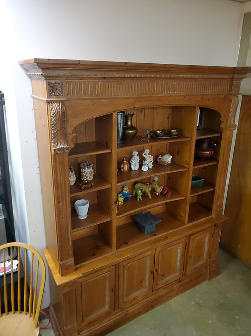 4 Tier Pine Hutch China Cabinet