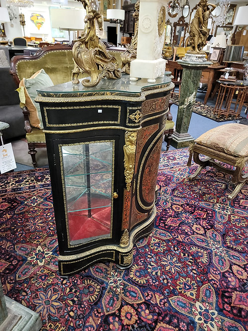 French Bouille Marbletop Cabinet Late 19th Century Early 20Th