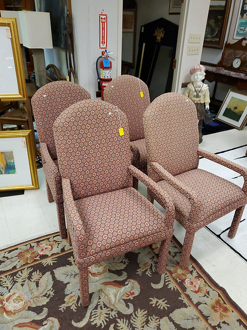 Set of 4 upholstered Club Chairs