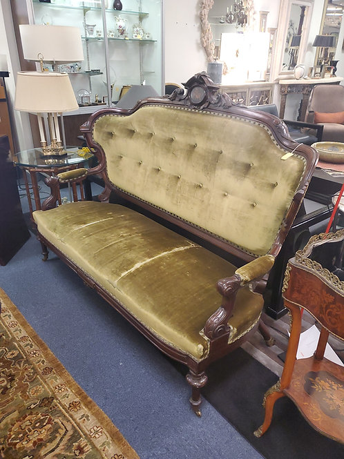 American Victorian Sofa Silk Velvet