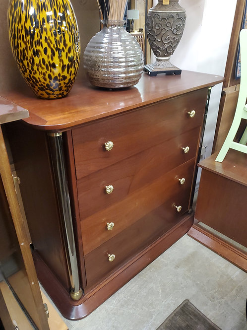 Dresser With Rounded Mirrored Posts