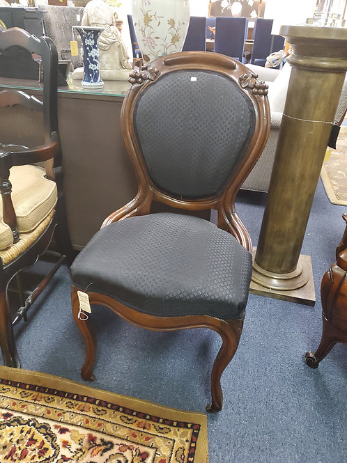 Pair of Black Victorian Side Chairs
