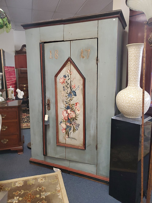 Early 19th Century Painted European Cupboard Possibly Swedish