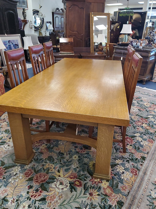 2 Drawer Mission Oak Dining or Conference Table