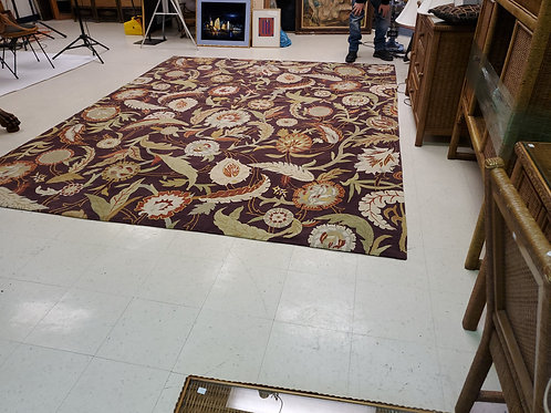 Hand Made Floral Rug 140.5' x 9Ft