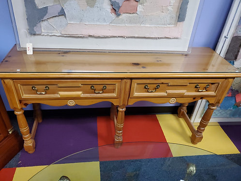 Knotty Pine Console Table