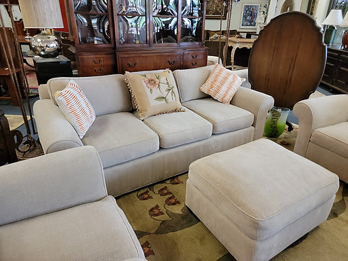 Donghia Couch, Love Seat 2 Arm Chairs & Ottoman