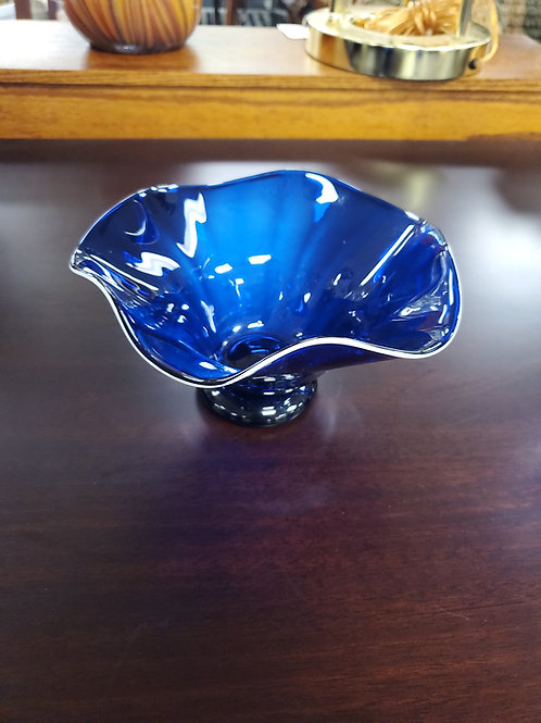 Signed Fluted Art Dish