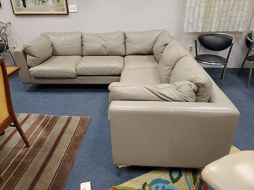 Grey American Leather Sofa