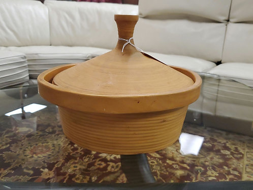 Mid Century Bamboo Sampan Japan Lidded Vessell