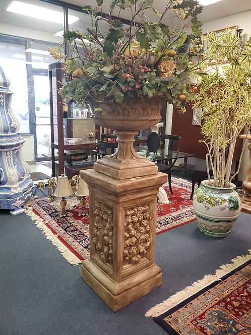 Ceramic Pedestal and Urn