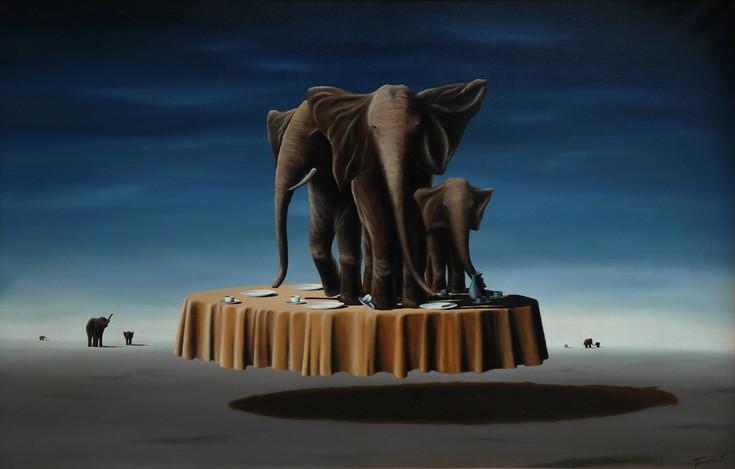 Sloni v porcelánu II