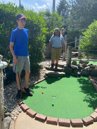 Mini golfing with the kids