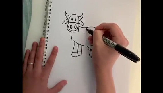 How to draw a cow!