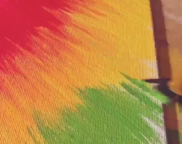 RAINBOW TIE-DYE PAINTING