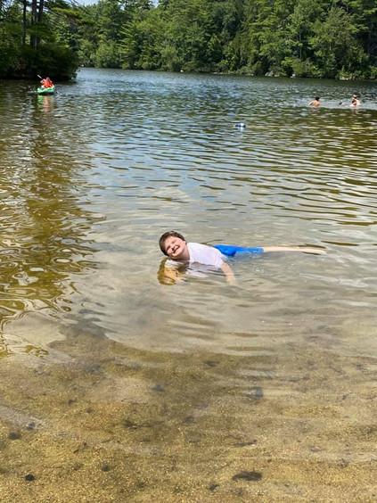 Enjoying the warm waters