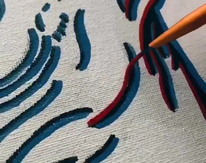 Glitch Art Painting