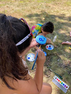 Painting drift wood and rocks!