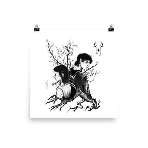 Enzo and Ava Photo paper poster