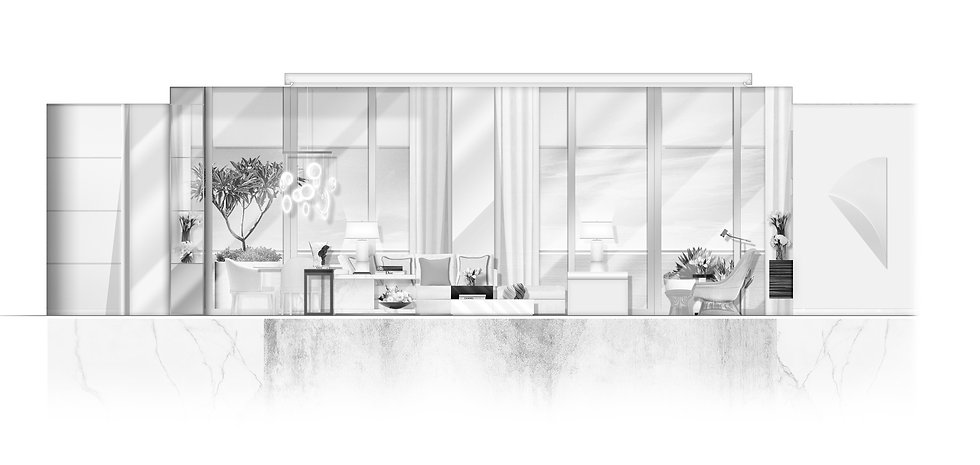 BWLiving and Dining Room- Window View (1