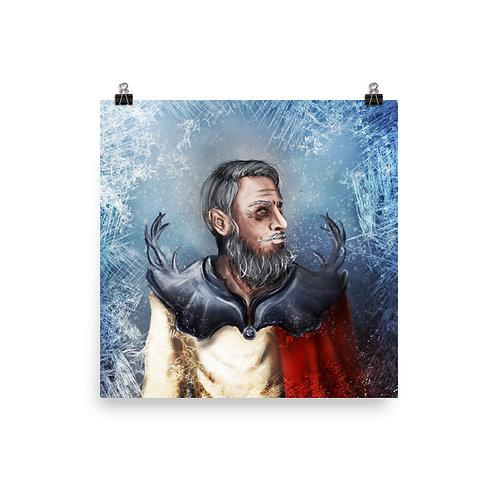 Saint Nicholas Photo paper poster