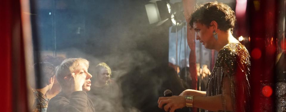 Paul Warner directing Felipe Foglar on K