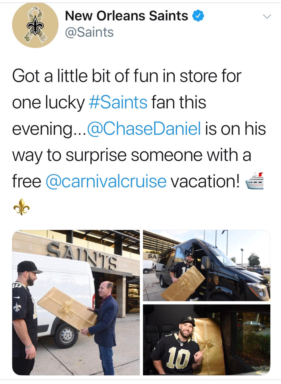Carnival/New Orleans Saints