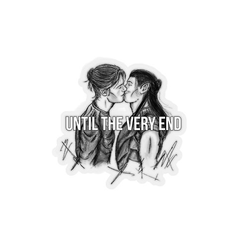 Until The Very End Kiss-Cut Stickers
