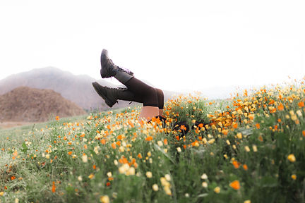 Goth Girl in Flowers in Palm Desert, California | Rachel Ash Photo