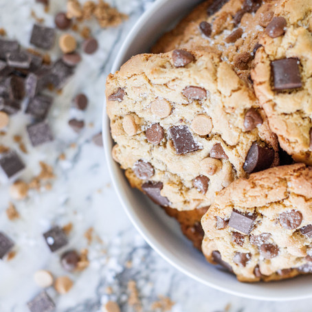 Salty Peanut Butter + Chocolate Chip Cookies (GF)