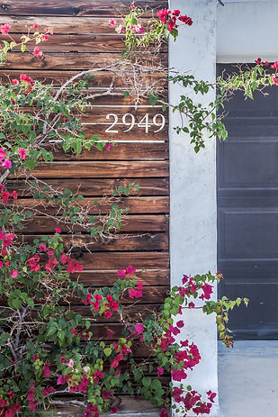 Detail exterior photograph for airbnb in Palm Springs, California | Rachel Ash Photo