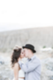 Elopement photographed in Coachella Valley Preserve in Palm Springs, CA by Rachel Ash Photo.
