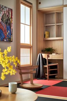 ◆空間坪數: 25 坪 ◆業主資料:一家3口(夫妻、1兒子) ◆空間性質:3RLDK ◆使用建材:日檜木皮、日本進口榻榻米、日本進口障子、特殊防水塗料、日本進口壁紙、台檜