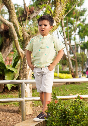 Mandarin collared boy's shirt