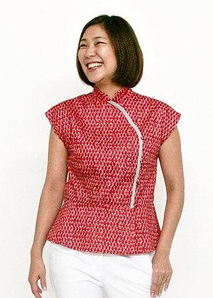 GROOVY Cheongsam Top - Red