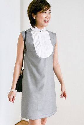 SWANKY Grey Tux Dress