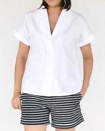 NIGHTINGALE Dropped Sleeves Shirt - White