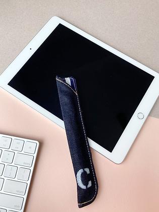 SANDY Denim Apple Pencil Case