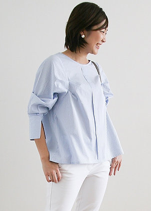 RADIANT Blue Stripe Top